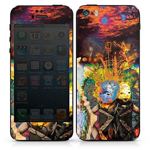 Apple iPhone SE Case Skin Sticker aus Vinyl-Folie Aufkleber Galaxie Himmel Fantasie DesignSkins® glänzend