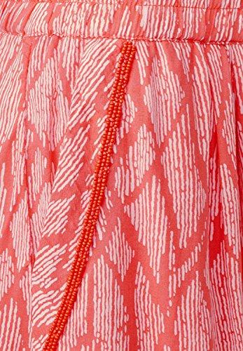 Street One Damen Printrock mit Perlchen Misha hot coral (koralle)