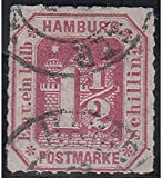 Goldhahn Hamburg Nr. 21 gestempelt und Geprüft Briefmarken für Sammler