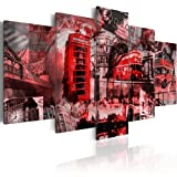 murando - Bilder 100x50 cm Vlies Leinwandbild 5 tlg Kunstdruck modern Wandbilder XXL Wanddekoration Design Wand Bild - London Stadt 030117-5