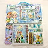 #6: Stationary set for kids cartoon printed 1 drawing book 1 diary 2 pencils 4 crayons 1 pencil-box 2 sharpner 1 eraser for perfect birthday gift return gifts online by ShopKooky