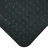 """Wearwell PVC 416 UltraSoft Diamond-Plate Heavy Duty Anti-Fatigue Mat, Safety Beveled Edges, for Dry Areas, 3' Width x 5' Length x 15/16"""" Thickness, Black by Wearwell Industrial"""