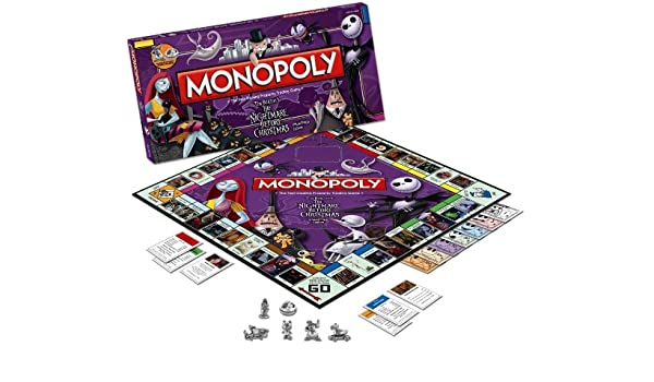 Nightmare Before Christmas Collectors Edition Monopoly Boardgame ...