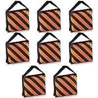Neewer® Set of 8schwarz/orange Sandsack Fotografie Studio Video Stage Folie Sandsack Satteltasche für Lichtstative Boom Arme Stative