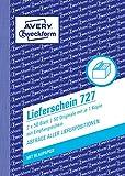 Avery Zweckform 727 Lieferscheine mit Empfangsschein, DIN A6, mit Empfangsschein, 2 x 50 Blatt, weiß, rosa