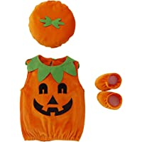 De feuilles Body Barboteuse Citrouille Bébé Halloween Noël Déguisement Costume avec Bonnet Chaussure Ensembles Soirée…