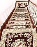 LIXIONG Teppichboden- Treppe Stufenmatten 5er SparSet, Stepper-Pad Selbstklebend Antirutschmatten...