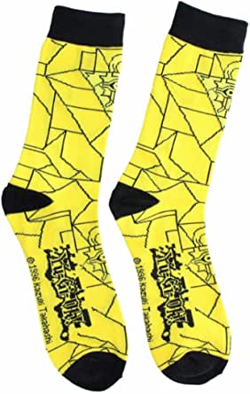 YU-GI-OH Yugioh Yellow Pyramid of Light Mens Crew Socks