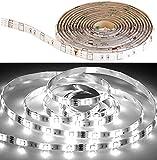 Luminea Zubehör zu Lichtband-Sets: LED-Streifen LAK-206, 2 m, 600 Lumen, tageslichtweiß, dimmbar, IP44 (Leuchtband)