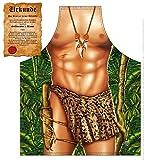 Mega Sexy Küchenschürze Kochschürze Grillschürze mit Gratis Urkunde - Tarzan - lustiger Scherzartikel Funartikel Geschenkidee