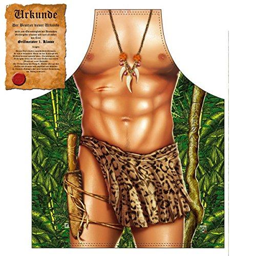 GeschenkIdeen.Haus - Sexy Küchenschürze/Grillschürze mit Tarzan-Motiv