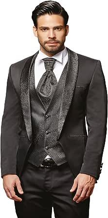 Herren Anzug - 8 teilig - Schwarz Hochzeitsanzug NEU PC_22