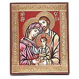 Ícono de la Sagrada Familia griego relieve