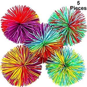 5 Stücke AFFE Stringy Balls Sensory Fidget Stringy Balls Weiche Regenbogen...