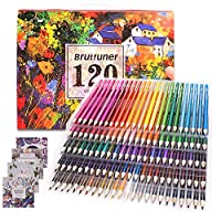 Colouring Pencils Adult Coloring Book Artist 120 Colour Pencil Set for Artists, Kids, Sketchers, Students Colouring Drawing with 4 Colouring Books Gift