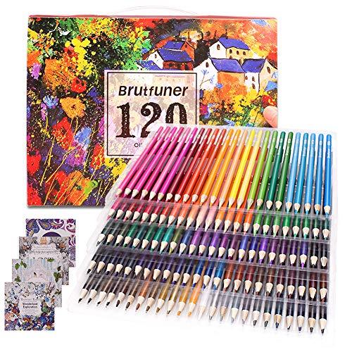 Malbuch für Erwachsene, Künstler Grade 120 Buntstifte-Set für Künstler, Kinder, Skizzierer, Studenten, Malen und Zeichnen mit 4 Malbüchern als Geschenk