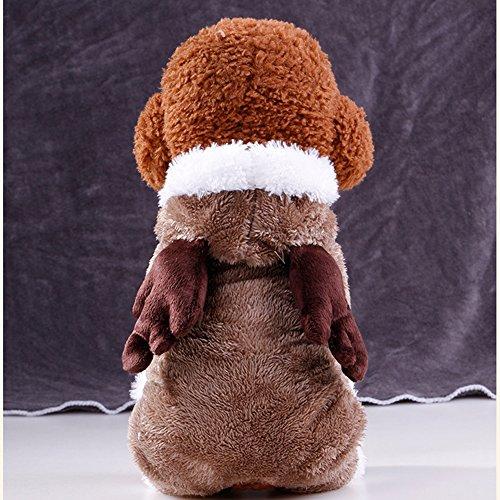 Cute Puppy Coat, woopower Kleine Hunde Weihnachten Kostüm Elch für Pet dicker four-feet ()