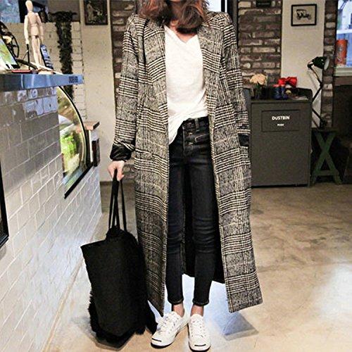 Xuanku Autumn Fashion Plaid Wool Tweed Coat Winter Slim Slim Models Houjian Type Maxmara Woolen Coat