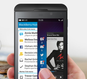Experimenta BlackBerry Flow