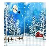 2 Pezzi di Tenda della Camera da Letto Accessori Decorazione della Festa di Natale - #10, 150x166cm