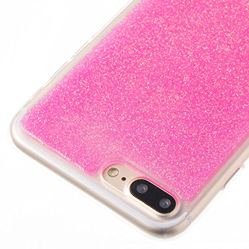 Custodia iphone 7 Plus / iphone 8 Plus, iphone 7 Plus / iphone 8 Plus Cover, iphone 7 Plus / iphone 8 Plus Custodia Silicone,Cozy Hut Case Cover per iphone 7 Plus / iphone 8 Plus, Shiny Sparkly Bling  rosa