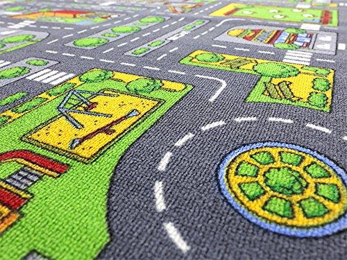 Stadt Mix HEVO® Strassen Spielteppich | Kinderteppich 145x200 cm - 5