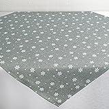 Tischdecke SNOW grau / 85x85 cm / moderne Mitteldecke zu Weihnachten