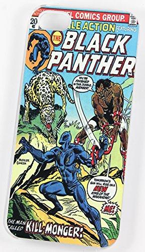 La Panthère noire DC Marvel Super Heroes vintage Comic Coque (iPhone 5/5S Housse/Coque de Protection en plastique rigide Transparent