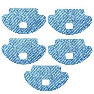 TeKeHom 5Stück Trocken/Nass zu wischen Reinigungstuch Zubehör für Staubsauger-Roboter Deebot OZMO 610ersetzen # d-cc3b