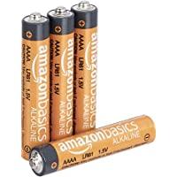 Amazon Basics Everyday AAAA-Alkalibatterien, 1,5 V, 4 Stück (Aussehen kann variieren)