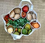 #2: Large Partition Grocery Hand Bag for Vegetables/Fruits