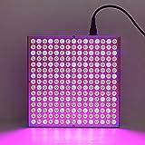 DECKEY Lampada LED Per Piante Illuminazione Coltivazione Pannello Quadrato Luce Crescita Piante Grow Light