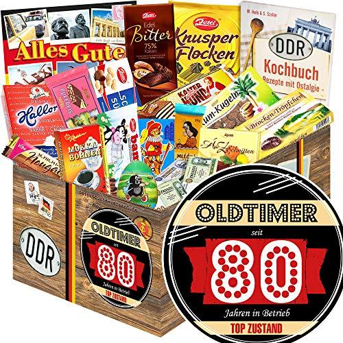 Oldtimer 80 | Ostalgie Schokolade | Geschenke zum Geburtstag Opa