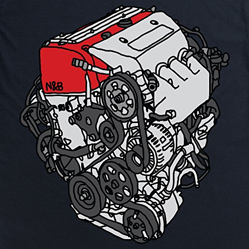 Nut & Bolt - EP3 Engine T-Shirt, Herren Schwarz
