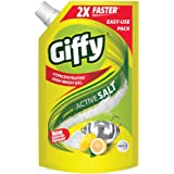 Giffy Lemon & Active Salt Concentrated Dish Wash Gel by Wipro, 900ml