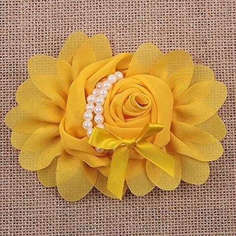 5/10/20 Stk große Satinband Rose Blume mit Perlen DIY Craft