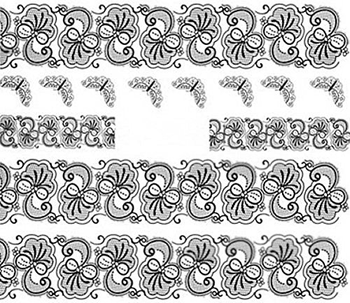 Nail art manucure stickers ongles décalcomanie scrapbooking: bandes fleuries et papillons