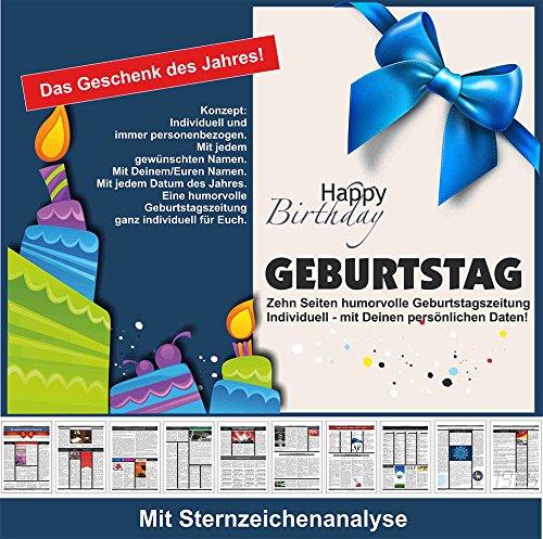 Geburtstag Geburtstagszeitung Geschenk mit Humor persönlich und individuell
