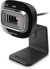 Microsoft Lifecam HD-3000 Webcam - Black (T3H-00011), 720P HD 16:9 Video Chat, Skype Certified