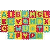LUDI – Tapis de sol épais et jouet Éducatif – 1054 - puzzle géant aux motifs Lettres – dès 10 mois – lot de 26 dalles en mous