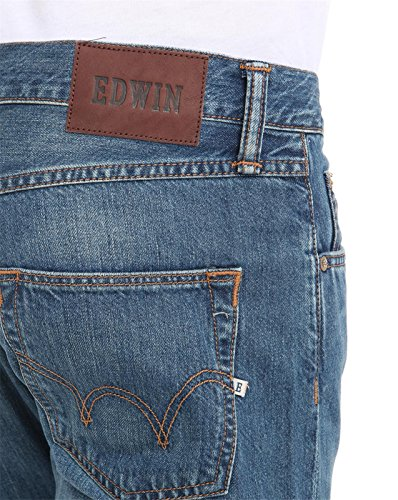 Edwin ED-55 Relaxed Loose Jeans Burner Wash blue midused