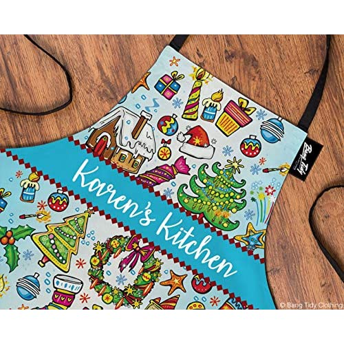 Personalised Christmas Collage Christmas Apron for Women & Men - Add your own Text