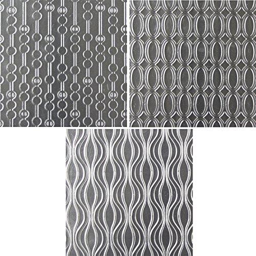 Sweet Elite Tools Swerve Muster Textur Blatt-Set von drei Einzigartige Muster Eindruck Matten von Marina Sousa -