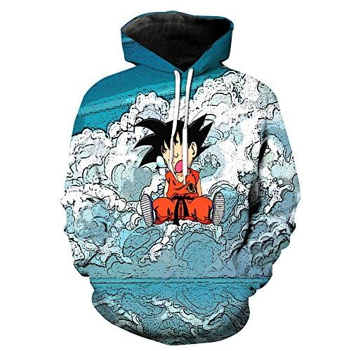 Winter Wonderland-sweatshirt ([Jandz] Unisex Hoodie Dragon Ball: glücklich, 3D Drucken, Otaku, Cosplay, Manga, anime-Design (Asian (L) → EU (S), Design: 818))