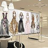Aolomp Wallpaper Stilvolle personalisierte creative Wallpaper 3d handgemalte Tapeten Hochzeitskleid custom Wandbild Wand in Women's clothing Store