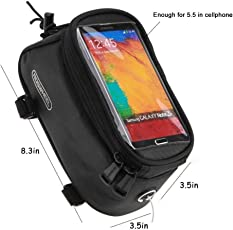 roswheel touch screen top tube bag