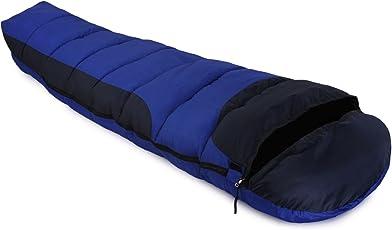 Klair Ultra Light Blue Nylon Cloth Inner Warmed Sleeping Bag [Premium Quality]