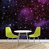 Fotomurales de estrellas, cosmos, universo, mural pintado en papel para decorar paredes (177 fw), FIELTRO (EasyInstall), XXL - 312cm x 219cm