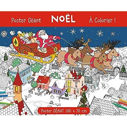 Poster géant Noël à colorier