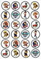 Paw Patrol Edible PREMIUM THICKNESS SWEETENED VANILLA,Wafer Rice Paper Cupcake Toppers/Decorations por Cian's Cupcake Toppers Ltd
